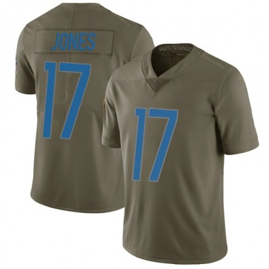 Men's Nike Detroit Lions Andy Jones 2017 Salute to Service Jersey - Green Limited