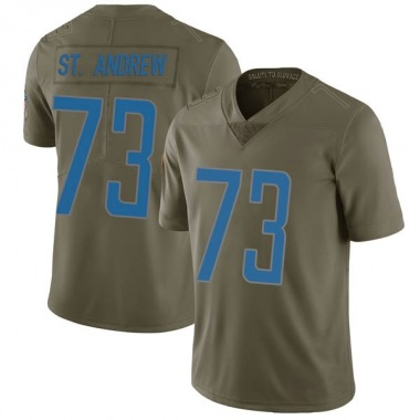 Men's Nike Detroit Lions Micah St. Andrew 2017 Salute to Service Jersey - Green Limited
