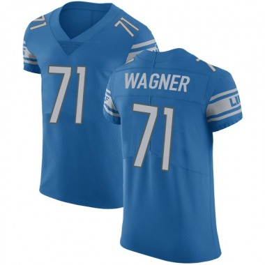 Men's Nike Detroit Lions Rick Wagner Team Color Vapor Untouchable Jersey - Blue Elite