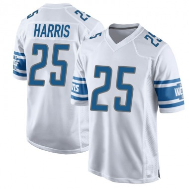Men's Nike Detroit Lions Will Harris Jersey - White Game
