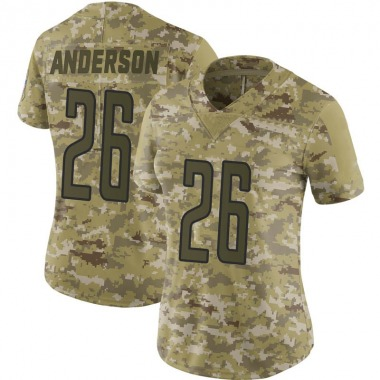 Women's Nike Detroit Lions C.J. Anderson 2018 Salute to Service Jersey - Camo Limited