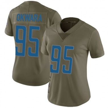 Women's Nike Detroit Lions Romeo Okwara 2017 Salute to Service Jersey - Green Limited