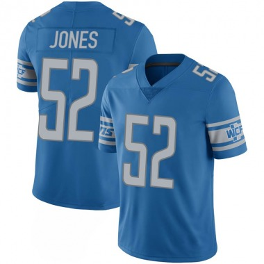 Youth Nike Detroit Lions Christian Jones 100th Vapor Jersey - Blue Limited