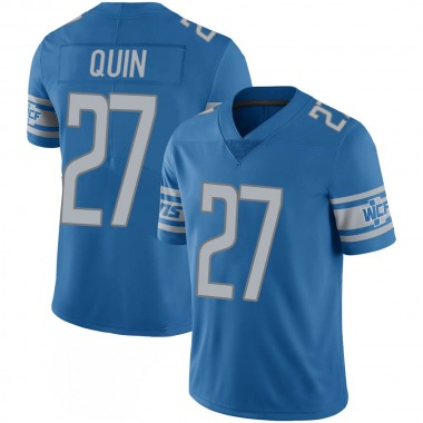 Youth Nike Detroit Lions Glover Quin 100th Vapor Jersey - Blue Limited