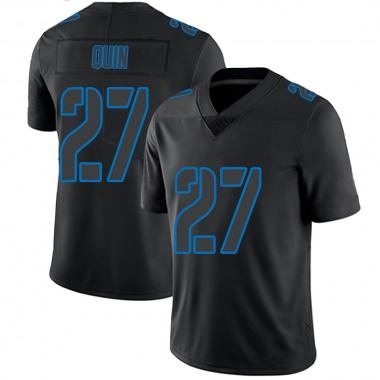 Youth Nike Detroit Lions Glover Quin Jersey - Black Impact Limited