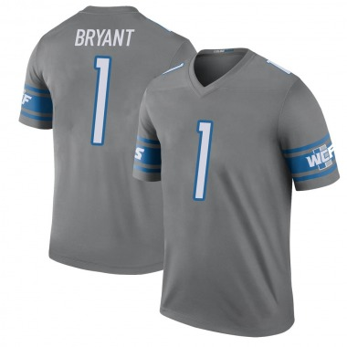 Youth Nike Detroit Lions Hunter Bryant Color Rush Steel Jersey - Legend