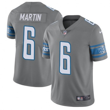 Youth Nike Detroit Lions Sam Martin Steel Color Rush Jersey - Limited
